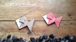 Cómo hacer un pez de origami fácil con niños