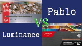 Caran Dache Luminance Colored Pencils ~vs~ Caran Dache Pablo Colored Pencils - Comparison Review