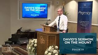 "April 22, 2020 • PM — ""David's Sermon on the Mount"""