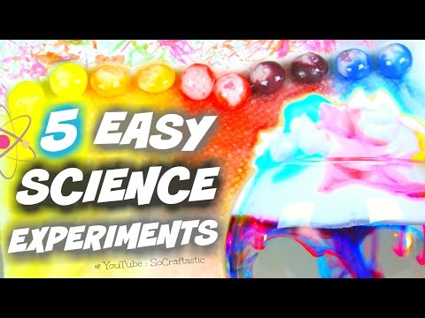 5 AMAZING SCIENCE EXPERIMENTS TO DO AT HOME // SoCraftastic