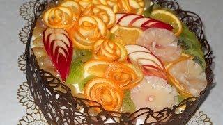 Торт с суфле и фруктами. Рецепт