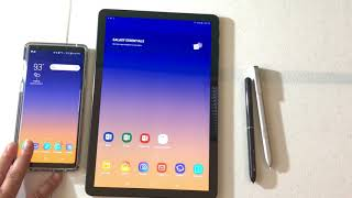 Unboxing of the Samsung Tab S4 and Quick set up