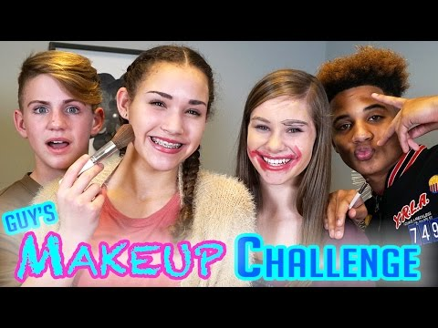 GUYS Makeup Challenge! MattyBRaps vs Justin ft Gracie & CeCe