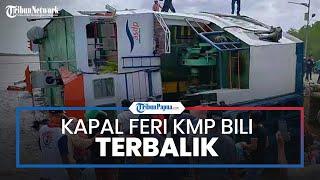 Video Detik-detik Kapal Feri KMP Bili Terbalik di Dermaga Perigi Piai, Kalbar