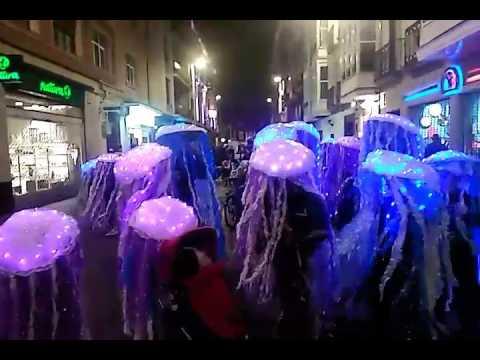 Disfraz de Medusas de mar en Vitoria carnavales 2017