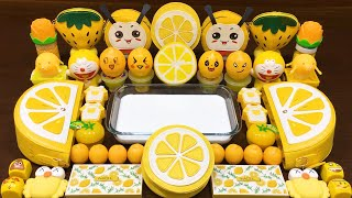 Series Yellow Lemon Slime! Mixing Random Things into GLOSSY Slime! Satisfying Slime Videos #63