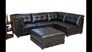 Modular Leather Sectional Sofa