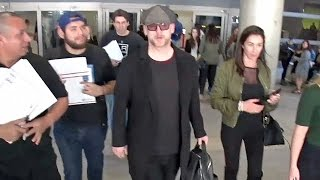 Boy George Barely Recognizable At LAX