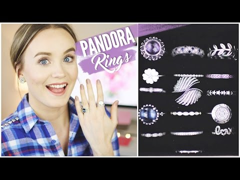 Pandora Rings Collection || How I Style/Stack Pandora Rings