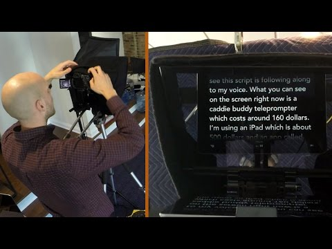 How to Set Up an iPad Teleprompter Rig   Caddie Buddy Teleprompter setup