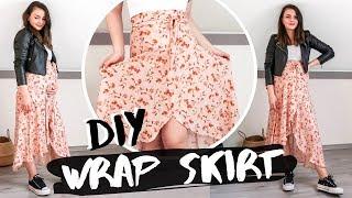 Easy DIY Flowy Wrap Skirt From Half Circle Pattern | Owlipop DIY