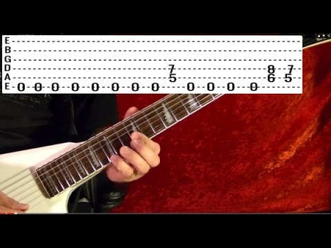 HEAVY METAL POWER CHORDS - Guitar Lesson - Beginner