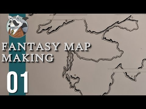 Let's Make a Map! | Fantasy Map Making | Ep.1 Coasts, Mountains, & Rivers