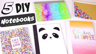 5 DIY NOTEBOOK IDEAS for Back-To-School - School Supplies - How To | SoCraftastic
