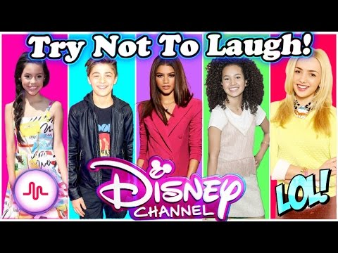 Try Not To Laugh Challenge Disney Stars Edition   Funny Disney Channel Stars Musical.ly 2017