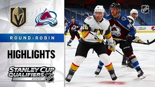 NHL Highlights | Golden Knights @ Avalanche, Round Robin - Aug. 8, 2020