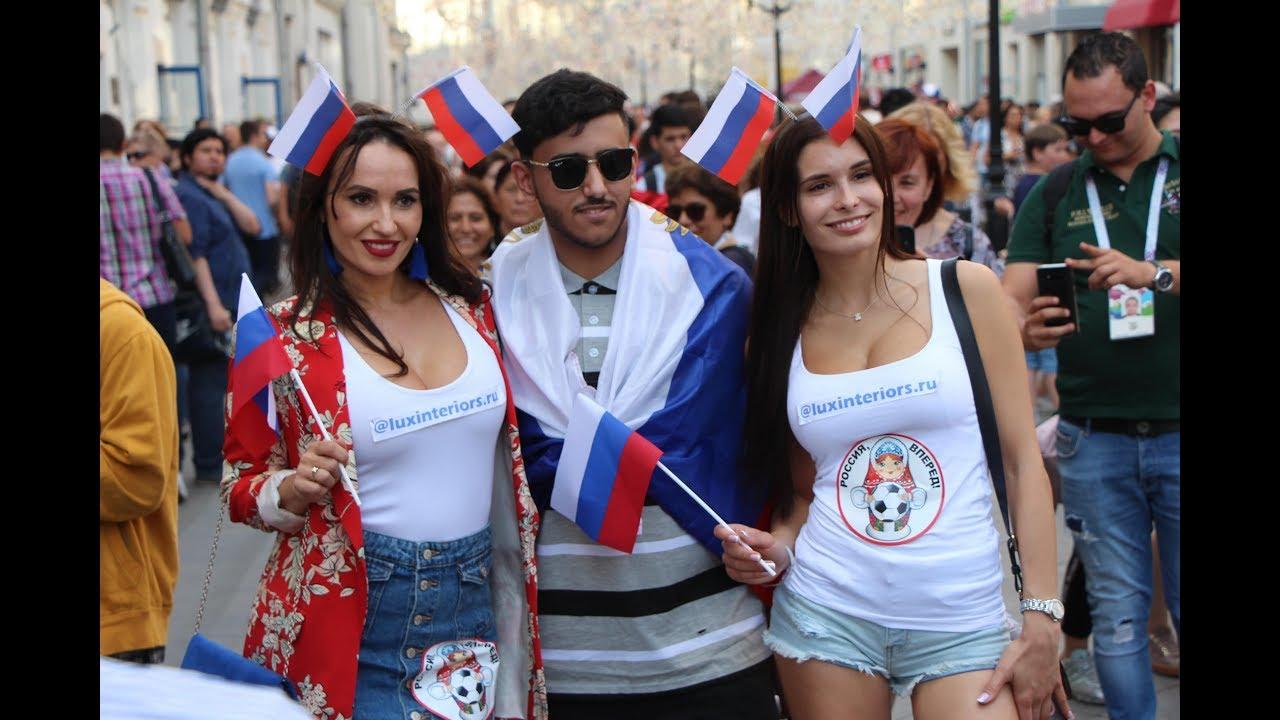 Нашествие фанатов в центре Москвы