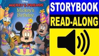 Mickey & Friends Read Along Story Book | Mickeys Birthday | Read Aloud Story Books For Kids