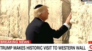 Trump Becomes First US President To Visit Western Wall In Jerusalem!