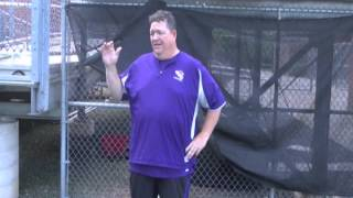 Catamount Football equipment manager Mike Taylor accepts the ALS Ice Bucket challenge.