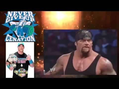 WWE John Cena vs Undertaker   Epic Match   John Cena nearly killed Undertaker