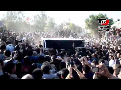 الآلاف يشيعون شهيد الشرطة المكلف بحراسة قاضي مرسي في الدقهلية