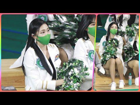 [4K] 치어리더 차영현 직캠 (cheerleader) - 1/2쿼터 응원 모음 @남자농구(원주DB)/210…