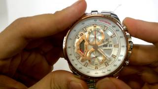 CASIO EDIFICE WATCH EF-558D-7AV QUICK UNBOXING