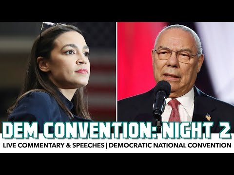 DNC 2020 Night 2 | Live Commentary & Speeches