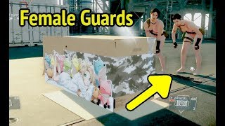 Female Guard Reactions to Cardboard Box in Metal Gear Solid V: Phantom Pain (MGS5)