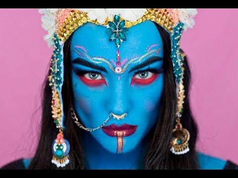 Halloween Special- Goddess Kali Makeup Tutorial