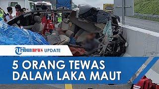5 Orang Tewas dalam Kecelakaan Maut Tol Pekanbaru-Dumai, Sopir Mobil Diduga Mengantuk & Tabrak Truk
