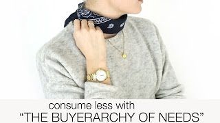 """Learn to consume less with """"the buyerarchy of needs""""!"""