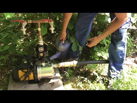 Brunnen Pumpe richtig anschließen