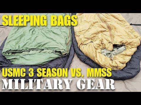 USMC 3 Season Sleeping Bag vs. Military Modular Sleeping System Bag