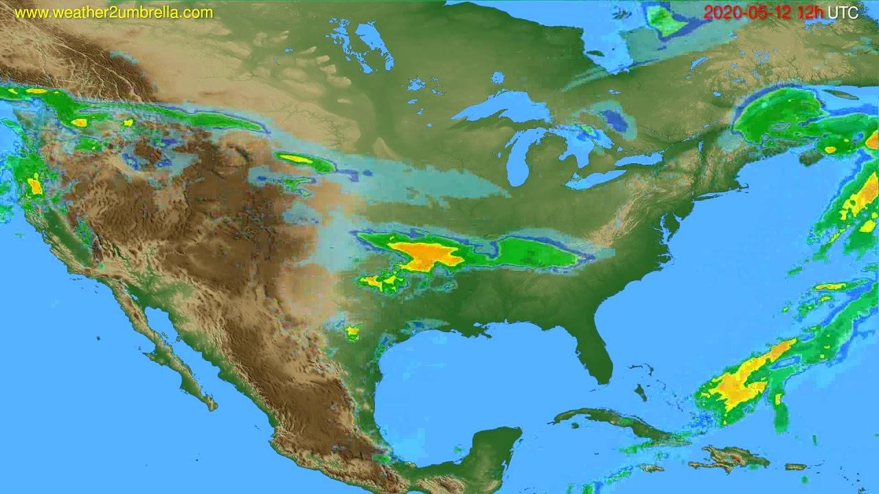 Radar forecast USA & Canada // modelrun: 00h UTC 2020-05-12