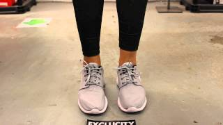 a5de540828b03 Woman s Roshe Run - Wolf Grey - On-feet Video at Exclucity