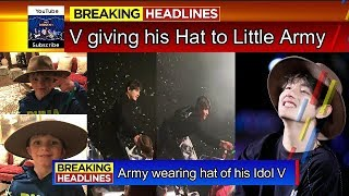 "[BTS INFO] Taehyung gave his hat to little Army ""Boy"" on Chicago Concert Day 2"