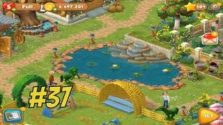 GARDENSCAPES NEW ACRES #37 Gameplay Story Playthrough | Area 8 Stable Area Day 4