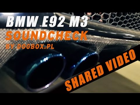 BMW M3 E92 iPE Innotech Performance Exhaust SOUND!