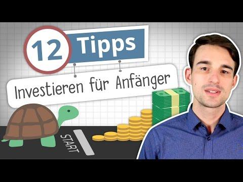 Investieren lernen: 12 Tipps für Anfänger!