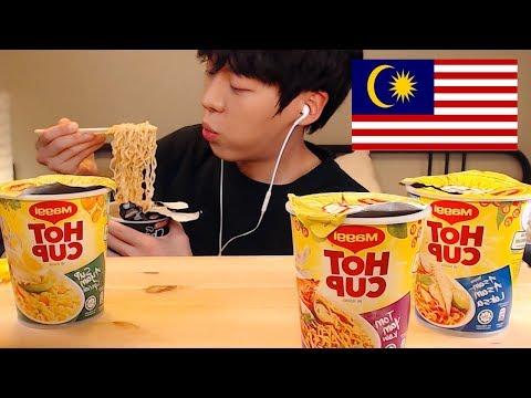MUKBANG🇲🇾말레이시아 라면 추천 리뷰 먹방|Malaysia cup noodles EATING SOUNDS[SIO ASMR 시오]