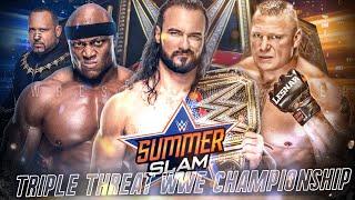 Brock Lesnar Vs Bobby Lashley Vs Drew McIntyre Triple Threat - SummerSlam 2020!?   Chatter's Pick