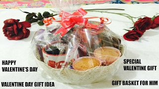 How To Make Gift Basket For Birthday 4 Him/VALENTINES DAY GIFT IDEA|GIFT BASKET FOR HIM -Ft Namrata