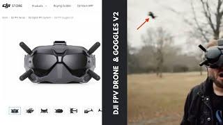 DJI FPV Goggles V2 - zobacz, gdzie są sprzedawane i jak lata DRON DJI FPV