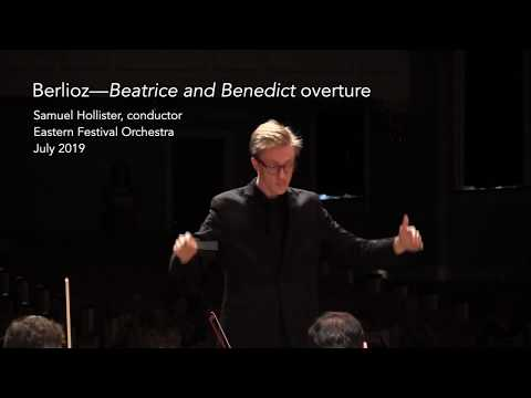 Samuel Hollister conducts Beatrice and Benedict Overture (short excerpt)