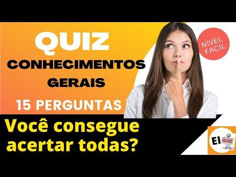 QUIZ DE CONHECIMENTOS GERAIS   NVEL FCIL #13