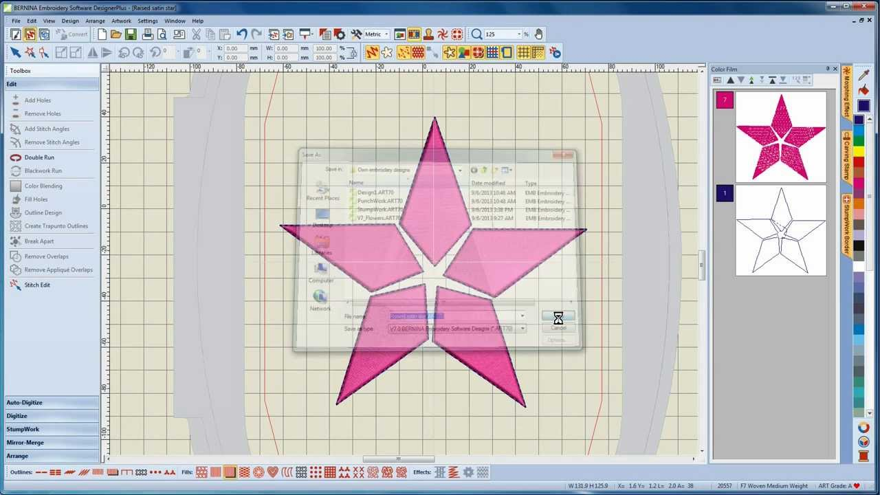 BERNINA Embroidery Software 8 Tutorial 5/12