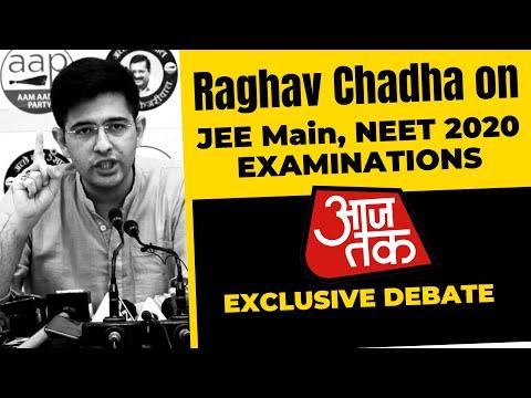 Raghav Chadha on JEE Main, NEET 2020 Exams | Aaj Tak Debate