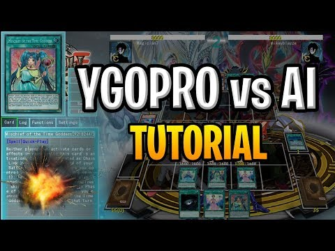 Ygopro2 Tutorial - How to make-add a deck for AI player!! - смотреть